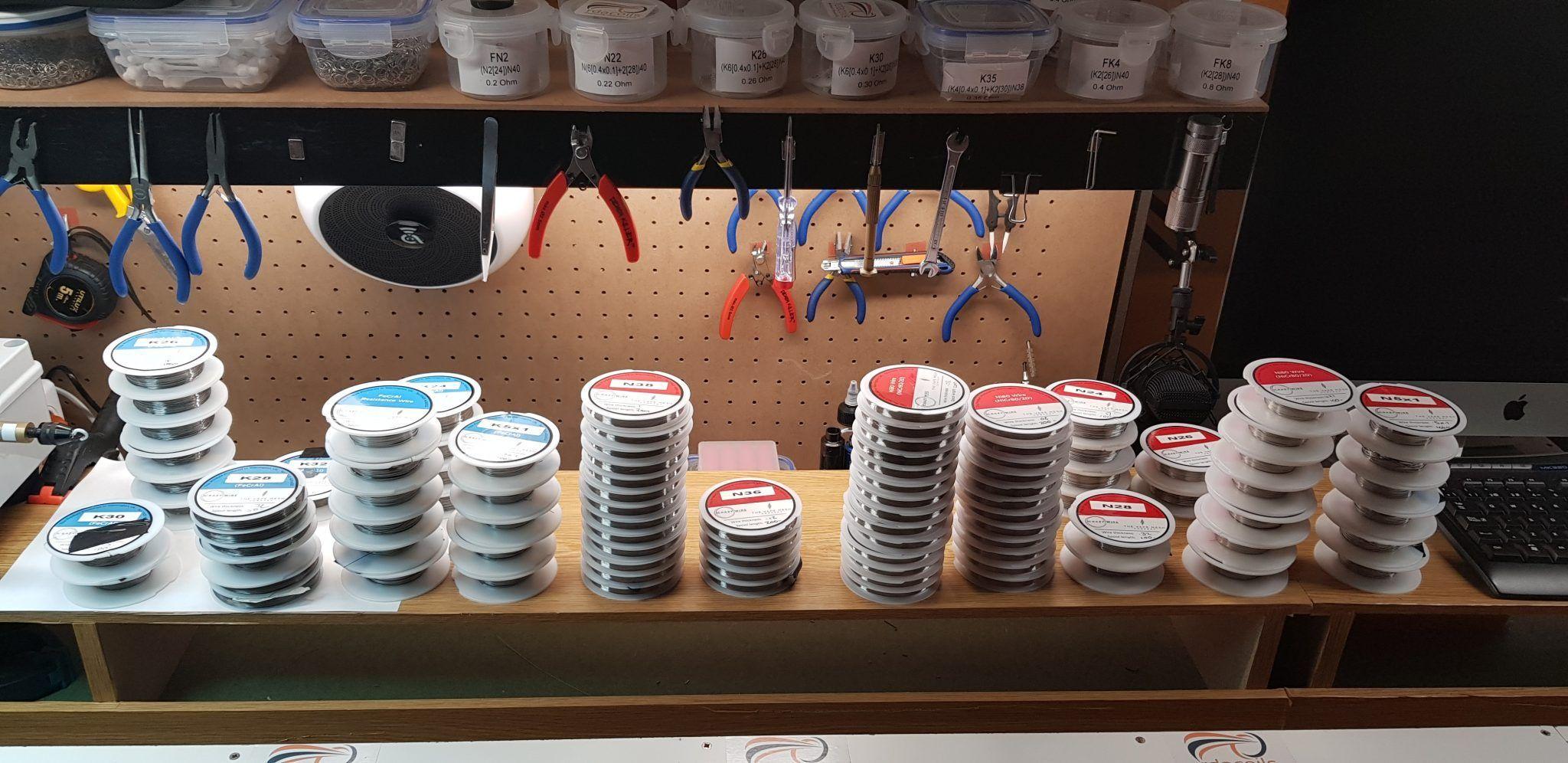 Fabricación. Estos son los hilos que utilizo
